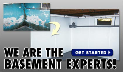 We are the basement waterproofing experts!