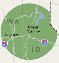 Our Idaho and Washington Service Area
